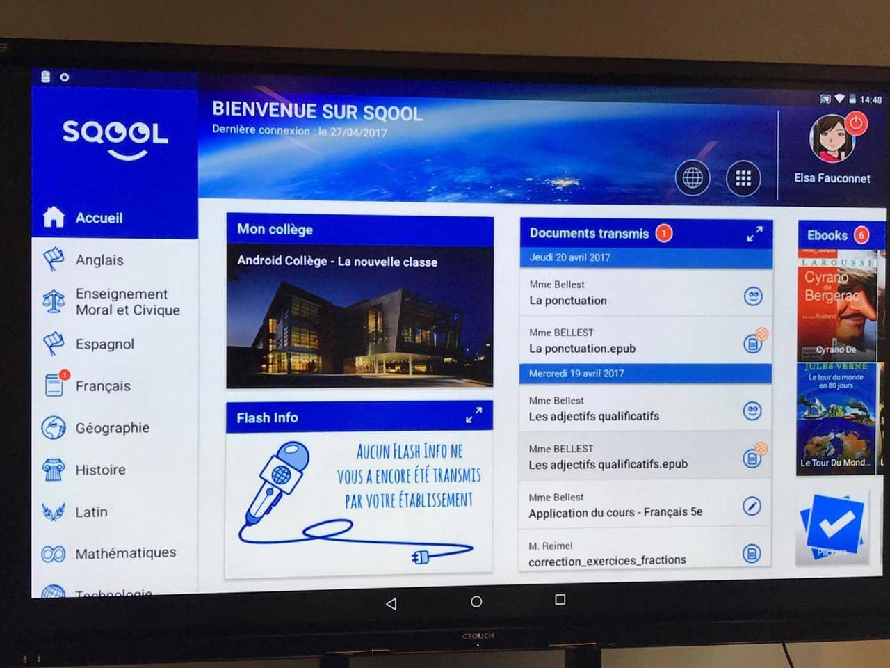 LCI - SQOOL, la tablette numérique française qui s'invite dans les classes
